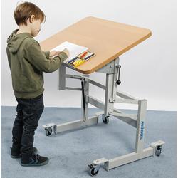 MÖCKEL® ergo S 52 ergonomischer Tisch für Kinder, Hellbraun, 120 x 80 cm