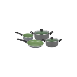 Michelino Topf-Set Kochtopf-Set 6-teilig Lara, Aluminium, (6-tlg), Topfset grün