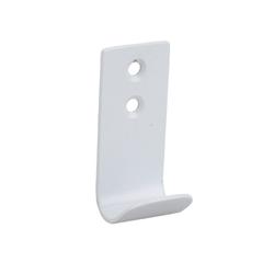 SOSmart24 Handtuchhalter Handtuchhaken Weiß Matt 1-fach aus Metall - 2er Set Handtuchhalter Bad und WC