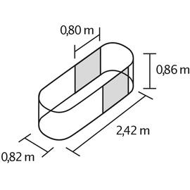 Vitavia Terra Erweiterung 86 cm Höhe alublank