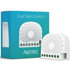 Z-Wave Smart Home Zubehör 2-fach Nano Schalter weiß