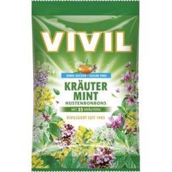 Vivil Hustenbonbons Kräuter-Mint zuckerfrei Inhalt: 80g