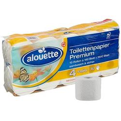 alouette Toilettenpapier Premium 4-lagig 10 Rollen