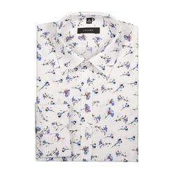 Lavard Weißes Hemd mit Blumenmotiv 91105  38/176-182