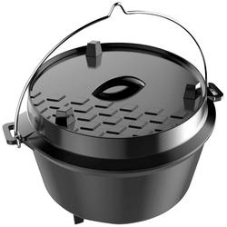 Tepro Grilltopf Dutch Oven L, Gusseisen, 12 Liter
