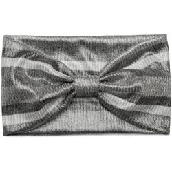 styleBREAKER Haarband Metallic Haarband mit Streifen und Schleife, 1-tlg., Metallic Haarband mit Streifen und Schleife