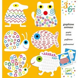 DJECO Malvorlage Malbuch - Schreibübungen Tiere