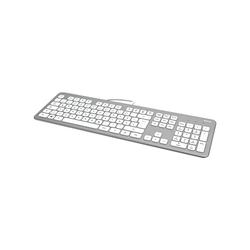 Hama KC-700 Tastatur (Slimline mit flüsterleisen Tasten) silberfarben
