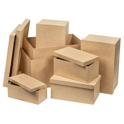 VBS Aufbewahrungsbox Rechteck, 7er-Set