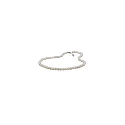 Gallay Perlenkette Kette 6mm Perle Kunststoff kristall-creme 50cm