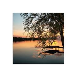 Artland Glasbild Landschaftsfotografie, Gewässer (1 Stück) 20 cm x 20 cm