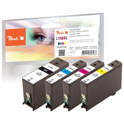 Peach Spar Pack Tintenpatronen, XL-Ergiebigkeit, kompatibel zu Lexmark No. 150XL