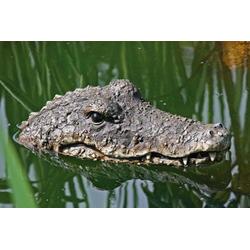 Meinposten Schwimmtier Yoshi Krokodil Schwimmtier Teich Teichfigur Gartenteich Alligator Deko Teichdeko 30 cm