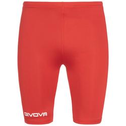 Givova Bermudy Skin Compression Tights szorty rowerowe czerwone - S