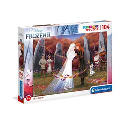 Clementoni® Puzzle Puzzle 104 Teile, Supercolor - Frozen 2, Puzzleteile