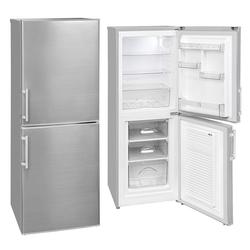 YUNA Kühl-/Gefrierkombination Serebro XL 50, 147 cm hoch, 52 cm breit, Kühlschrank Freistehend Energieklasse D