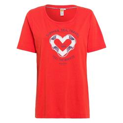 ROADSIGN australia T-Shirt Lifebuoy mit seitlichen Schlitzen rot XXL
