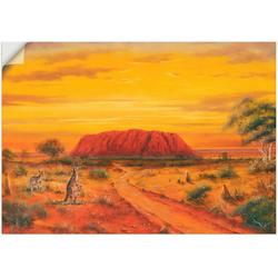 Artland Wandbild Australisches Tal, Australien (1 Stück) 70 cm x 50 cm