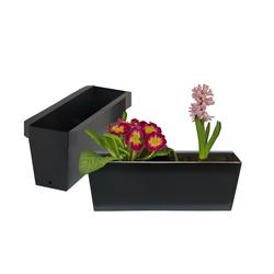 BigDean Blumenkasten Pflanzkasten Palettet Paletten Pflanzkübel 35,5 x 12,5 x 12 cm Palettenkasten (10 Stück)