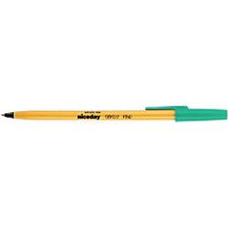 Niceday Kugelschreiber SBF0.7 0.4 mm Grün 20 Stück