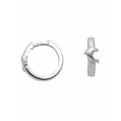 Adelia´s Paar Creolen 925 Silber Ohrringe / Creolen Delphin Ø 14,5 mm