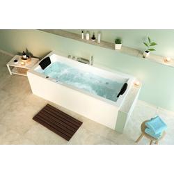 Emotion Whirlpool-Badewanne Unity 180 Premium Whirlpool Set (L/B/H) 180/80/59 cm
