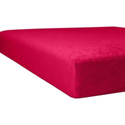 Massageliegenbezug Flausch-Frottee, Kneer rot Spannbettlaken Bettlaken Betttücher Bettwäsche, und Laken