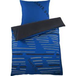 Renforcé-Bettwäsche, blau - blau