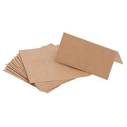Tischkarten aus Kraftkarton, 5 x 10 cm, 12 Stück