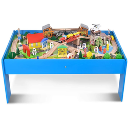 COSTWAY Modelleisenbahn-Set Spielzeug Zug Eisenbahn