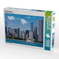 CHICAGO Skyline Lege-Größe 64 x 48 cm Foto-Puzzle Bild von Melanie Viola Puzzle