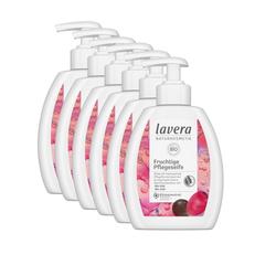 lavera Flüssigseife, 6-tlg., Fruchtige Pflegeseife Flüssigseife mit Bio-Goji & Bio-Acai