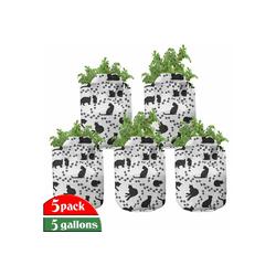 Abakuhaus Pflanzkübel hochleistungsfähig Stofftöpfe mit Griffen für Pflanzen, Katze Kätzchen Abdrücke Paws 28 cm x 28 cm