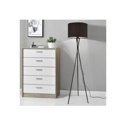 lux.pro Stehlampe, Grenoble Stehleuchte Design Dreifuß Lampe schwarz