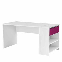 Kinderzimmer Schreibtisch in Weiß Pink 145 cm