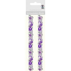 Schmucksteinsticker Bordüren Fancy VE=2 Stück violett
