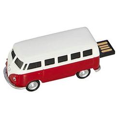 GENIE USB-Stick VW Bus, rot rot, weiß 32 GB