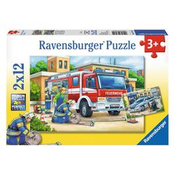 Ravensburger Puzzle Polizei und Feuerwehr, 24 Puzzleteile bunt
