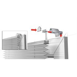 Plissee EASYFIX Plissee Ausbrenner-Stoff mit 2 Bedienschie, GARDINIA