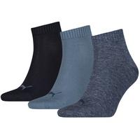 Puma 3er Pack Puma Quarter Plain Socken denim blue 35-38