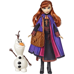 Hasbro Anziehpuppe Die Eiskönigin II, Anna mit Olaf und Tasche
