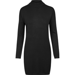 URBAN CLASSICS Sommerkleid Oversized Turtleneck Dress mit Turtleneck Ausschnitt schwarz S