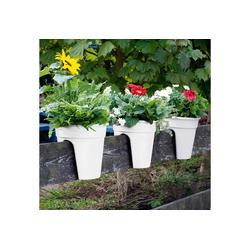 KHW Balkonkasten Flowerclip (Set, 3 Stück), Ø 27 cm