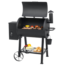 Tepro Pelletgrill Smoker Grillwagen New Orleans Grill mit Räder mit LCD-Display