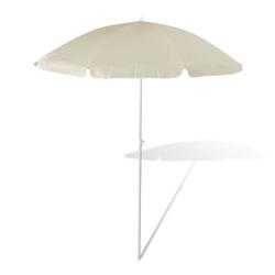 vidaXL Sonnenschirm 180cm Sonnenschirm Strandschirm Schirm sandfarbe