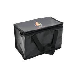 HMF 44160 Feuerfeste Tasche für LiPo Akkus, 25 x 15 x 16 cm, Schwarz Drohnen-Akku