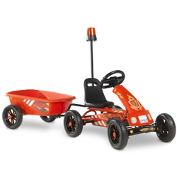 EXIT Pedal Go-Kart Foxy Fire mit Anhänger, rot