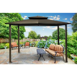 Paragon Outdoor Aluminium Pavillon Kingsbury 11x14 anthrazit 330x450 cm