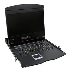 LogiLink Professional 19 LCD KVM Konsole mit 19 TFT Monitor und Tastatur (US)