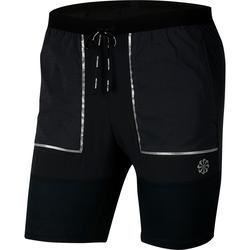 Nike Flex Stride Laufshorts Herren in black-black-dk smoke grey-reflective silv, Größe L black-black-dk smoke grey-reflective silv L